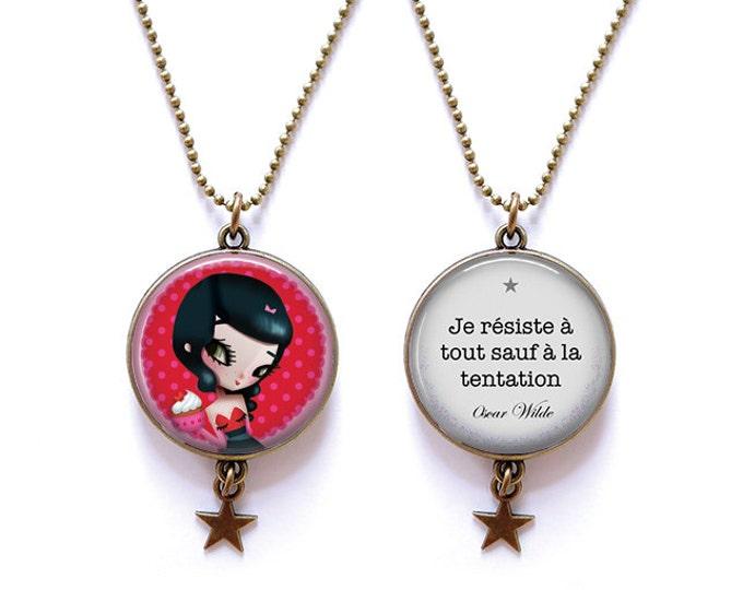 double-sided Lily - Youpla & Anatopik necklace