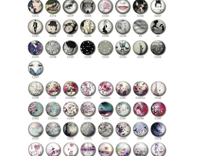Custom earring 1 resin 25MM (sold separately).
