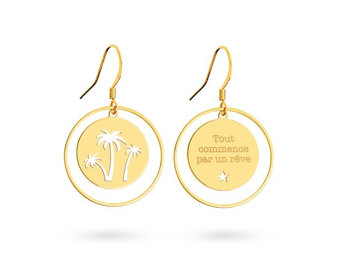 Pair of earrings Palm print