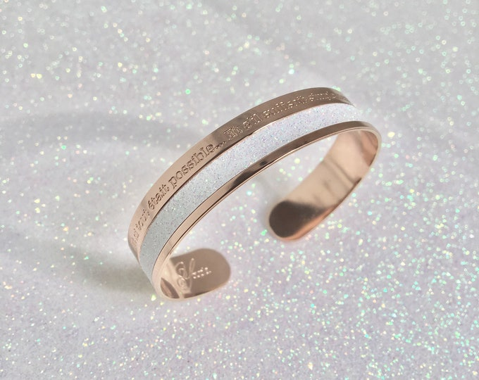 Adjustable ring - glitter- COSMOS