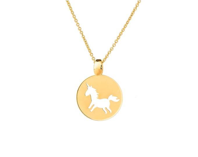 Unicorn EM4CO footprint necklace