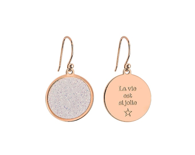 Pair of earrings-COSMOS