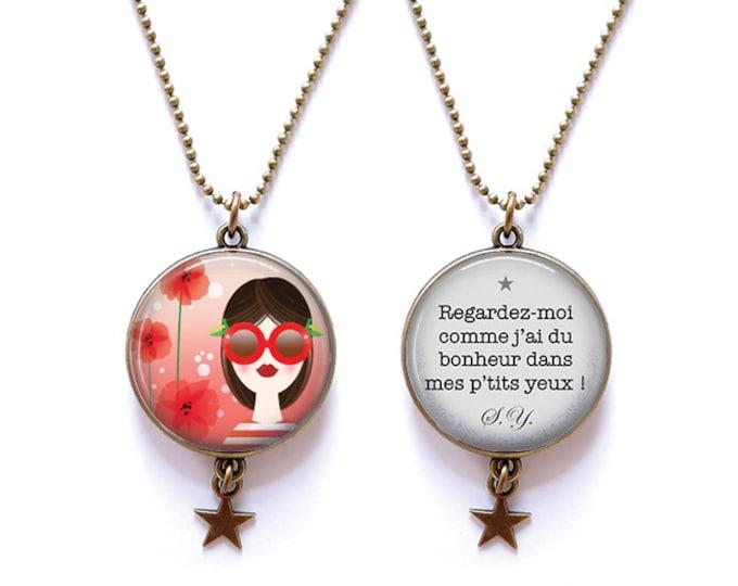 Double-sided poppy - Youpla & Anatopik necklace