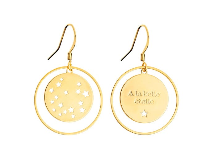Pair of earrings footprint star EM5B0