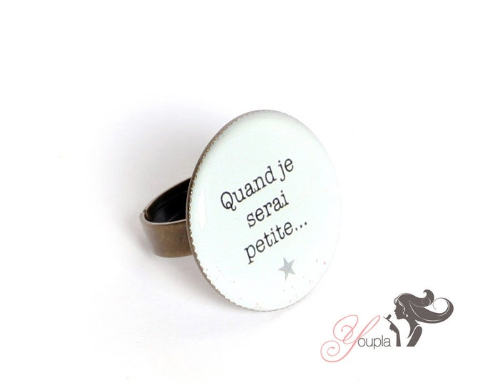 Resin T07 ring (2, 5cm in diameter) - support brass - collection La Plume to the ear
