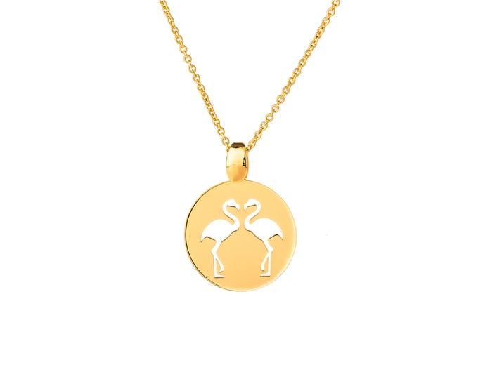 Necklace EM1CO flamingos imprint