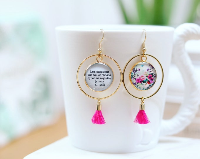 The air AR1 (Falbala) resin earrings