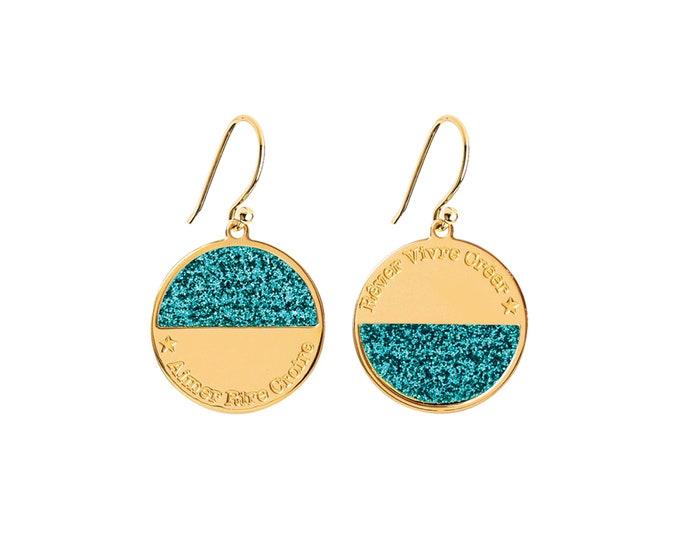NEW! Pair of earrings MOONLIGHT sequined