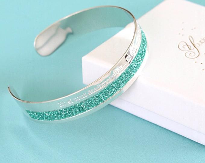 Glitter bracelet and ring