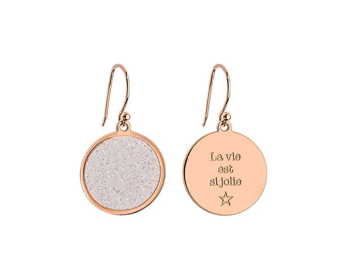 Pair of earrings COSMOS / Valentine's day