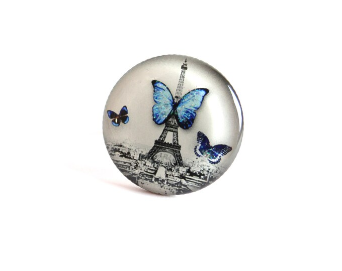 Resin CD54 ring (2, 5cm in diameter) - support brass - collection La Plume to the ear