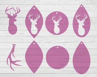 Deer Earrings Svg Etsy