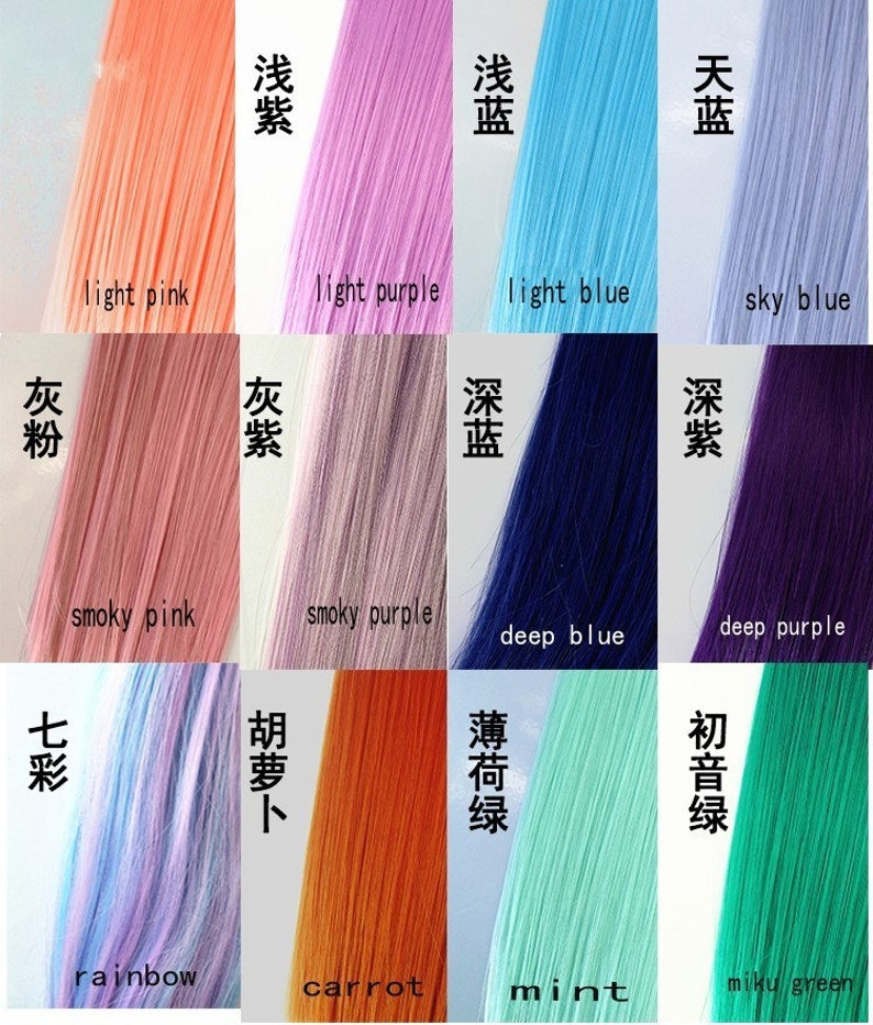 BJD Hair Wig Heat Resistant full color /& full sizes for selections