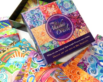 AKASHIC ORACLE DECK ~ Visionary oracle cards with art and affirmations for conscious living