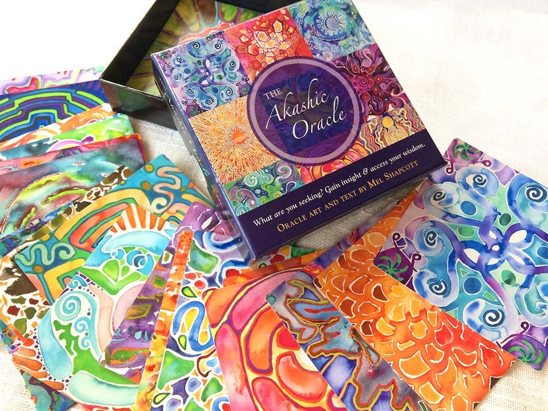AKASHIC ORACLE DECK  Visionary oracle cards with healing art image 0