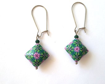 Polymer Clay Earrings, Abstract Earrings, Handmade Earrings