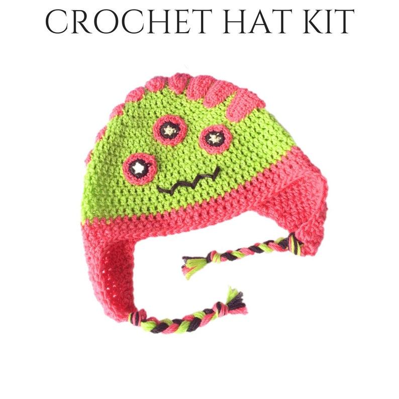 Hazel  DIY Kids Crochet Monster Hat  DIY Crochet Kit  DIY image 0