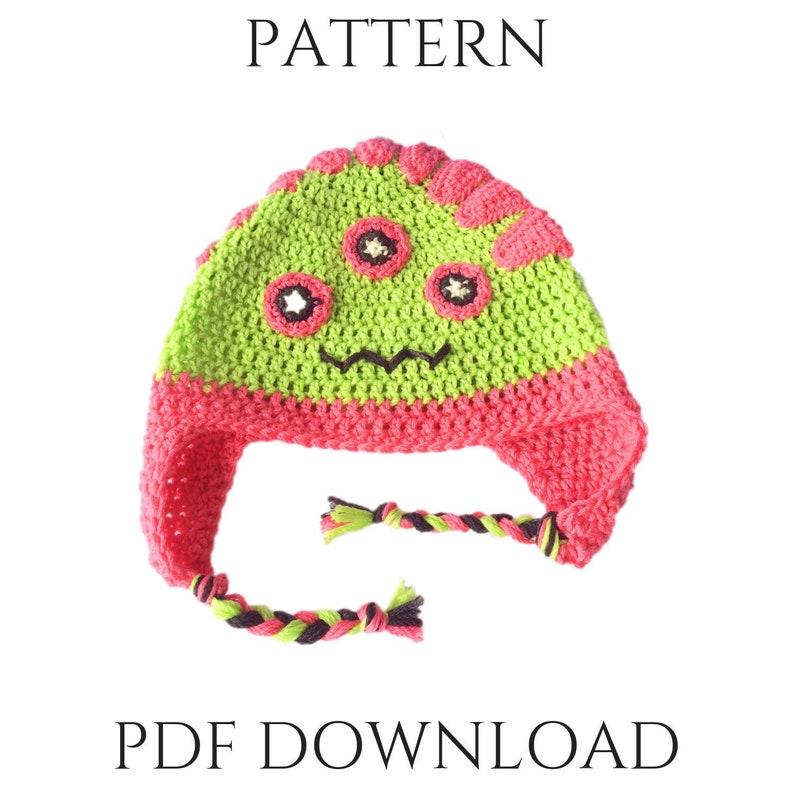 Hazel  Crochet Monster Patterns for Kids  Crochet Hat image 0