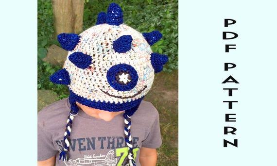 Spike Crochet Monster Patterns For Kids Crochet Hat Etsy
