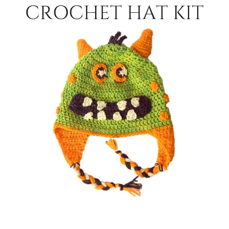 Herbie  Crochet Kits  DIY Kits  Monster Hat Crochet DIY Kit image 0