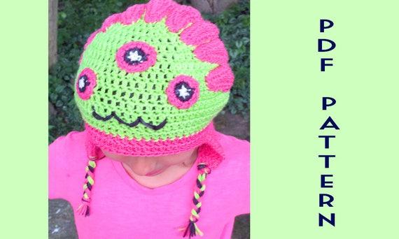 Hazel Crochet Monster Patterns For Kids Crochet Hat Etsy
