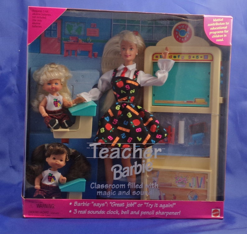 e869cd6fb09 Vintage Risque Rare Teacher Barbie with No Panties with Two