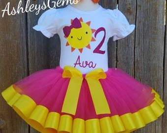 006815971 Sunshine Birthday Outfit, You are my Sunshine Birthday Outfit, Pink  Lemonade Outfit, Pink and Yellow Tutu, Sunshine Onesie, Sunshine Outfit