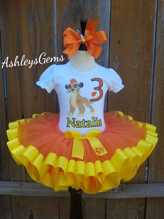 Lion Guard Birthday Tutu Set Outfit Your Child/'s Name