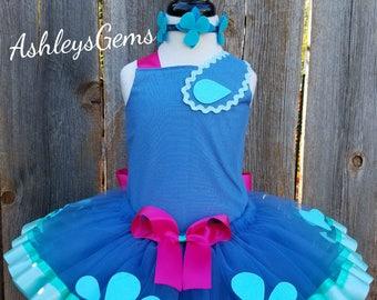 Poppy Costume, Poppy Tutu Outfit, Poppy Birthday Outfit, Trolls Costume, Trolls Tutu, Poppy Troll Costume, Poppy Dress, Trolls Dress, Poppy