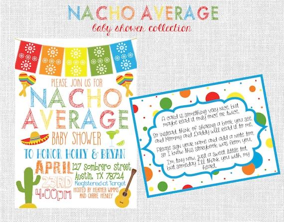 NACHO AVERAGE Baby Shower Invitation Fiesta Themed Gender