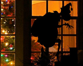 the grinch how the grinch stole christmas window silhouette decal holiday christmas design - How The Grinch Stole Christmas Decorations