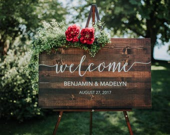 Wedding signs etsy more colors wedding welcome sign junglespirit Choice Image