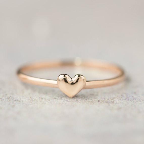 14k Or Rose Bague Tourmaline Pave Diamant Bague Femme Bijoux Valentine Cadeau