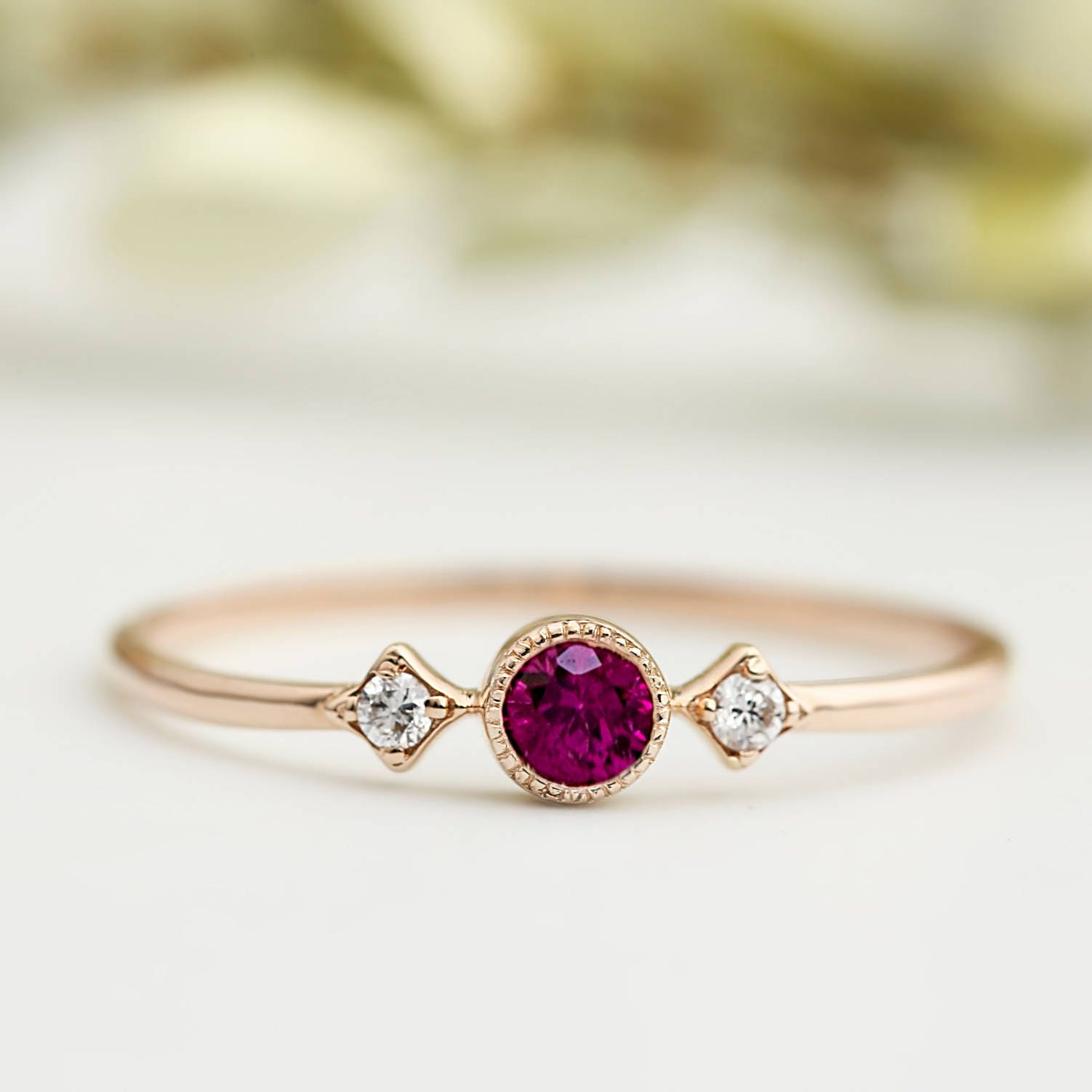 american ring ruby jewellery zircon