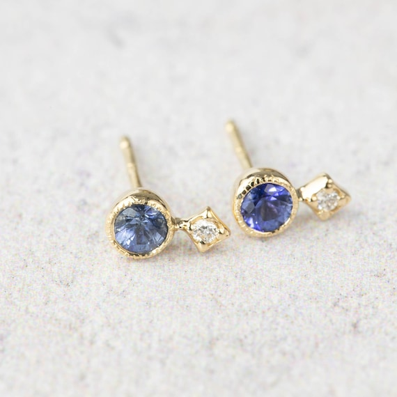 Sapphire Earrings Blue Gemstone Drop Earrings Sterling Silver Blue Earrings High End Jewellery 21st Birthday Gift Precious Gift for Her