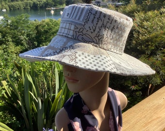 Large. Ultimate Sun Protection French Original Extra Large Pleated Brim Sunhat for A Perfect Sunny Day. Elegant Easily Packed
