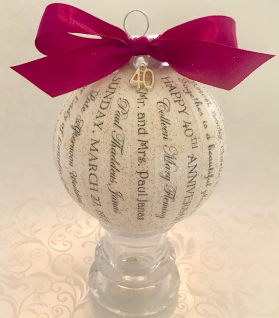 40th Anniversary Gift For Parentsfriendsruby Anniversary Etsy