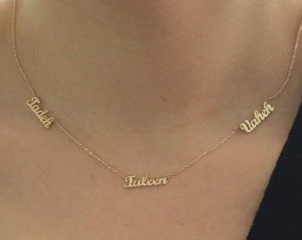 55ba1fd2fdbdd Two names necklace   Etsy
