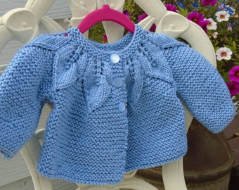 Knit Baby Sweater Etsy