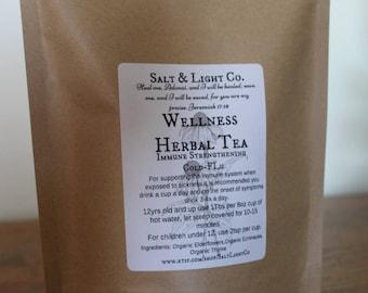 Organic Wellness Tea-Elderflowers+Echinacea/Cold-Flu