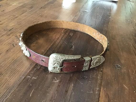 Vintage 40's - 50's kids studded belt.