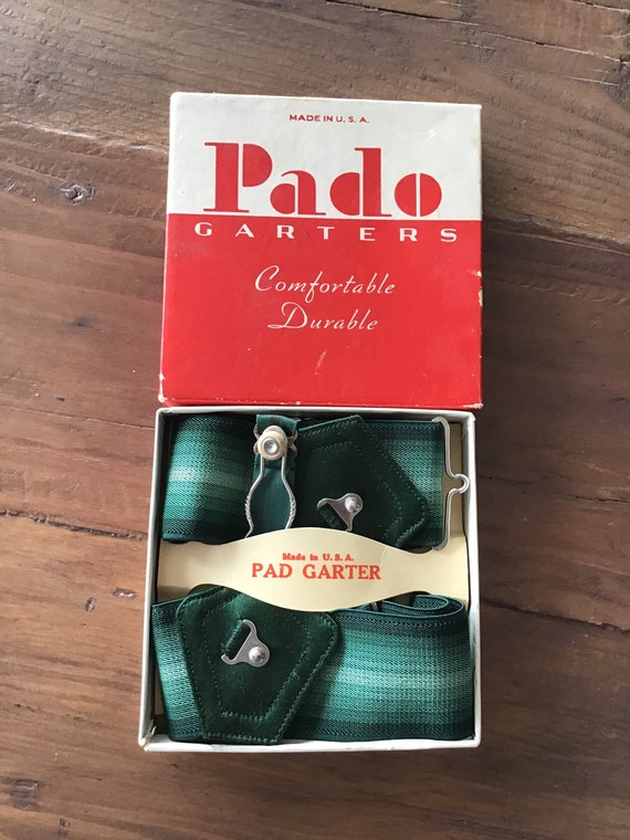 Pado Sock Garters box with Majestic Garters