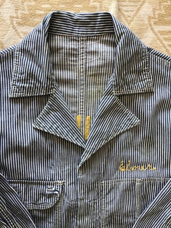 40's FFA Manheim Hickory Stripe Overalls.  42x24x5