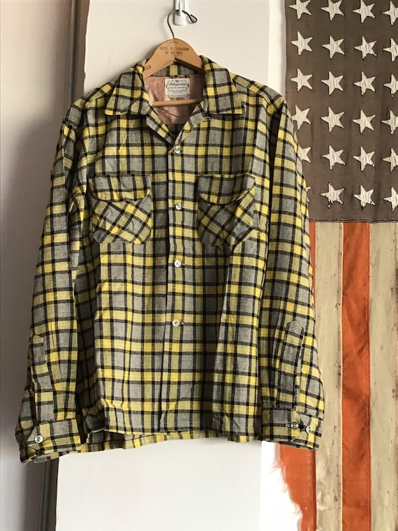 50's Pilgrim Shadow Plaid. Size Large.
