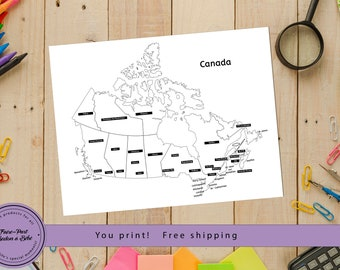 Canada Map Sales.Items Similar To Canada Map Printable Etsy Sales Map Sales Tracker