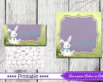 Easter Treat Toppers - Easter Favors - Printable Easter Bag Topper - Treat toppers - Easter printable -  pdf printable - digital printable