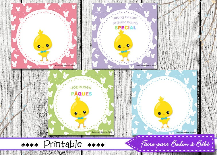 Easter Tags Digital Printable | Etsy