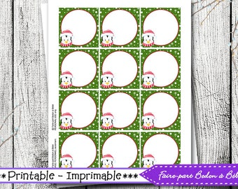 Christmas Printable Tags - christmas gift tags printable, present gift tags, to from christmas tags, homemade christmas gift tags, gift tags
