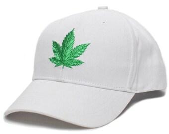 00f3a497a47 The Chronic Bud Marijuana Leaf Pot Blunt 420 Weed Hat Cap Adult White Snoop  Dogg