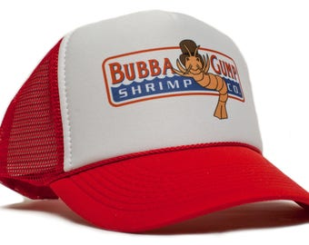 387f4c2ac178d Bubba Gump Shrimp Co Printed Truckers hat cap Forest Gump Adult- Adjustable